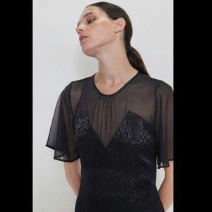 NWT Zara Black Dress Asymmetric Dress